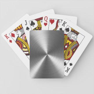 Metalliskt cirkla att leka kort, standart casinokort