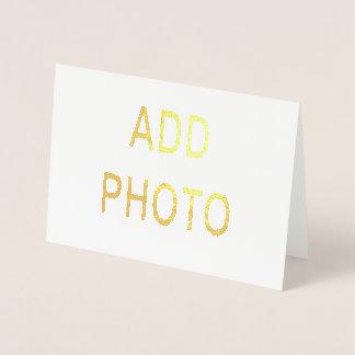 Metalliskt omkullkasta bläck, kortet för folierat kort