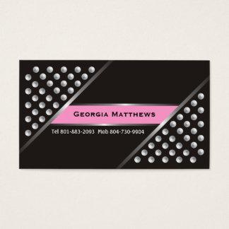 Metalliskt silver dubbar svart rosa visitkortar visitkort