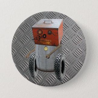Metallroboten Sci Fi knäppas Mellanstor Knapp Rund 7.6 Cm