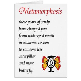 Metamorphosis - en rolig högskolastudentendikt hälsningskort