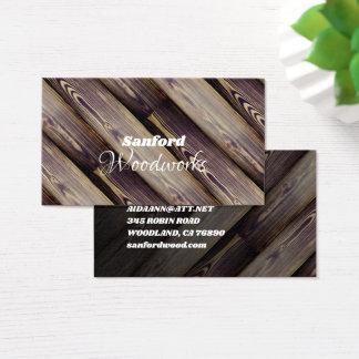 Metat trä belägger med tegel visitkort