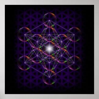 Metatrons kub/blomma av liv #2 poster