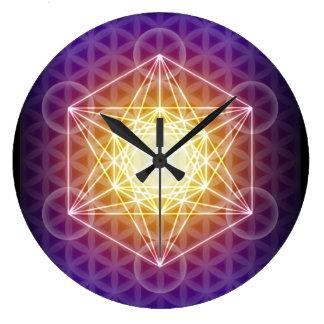Metatrons kub/blomma av liv tar tid på stor klocka