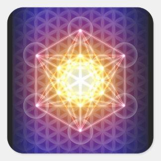 Metatrons kub/blomma av livklistermärken fyrkantigt klistermärke