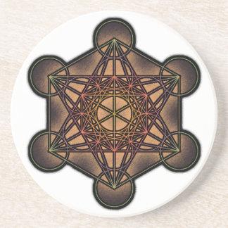 Metatrons kub - sakralt geometrisymbol dryck underlägg
