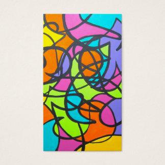 Metroen Måne-Räcker målad abstrakt konst Visitkort