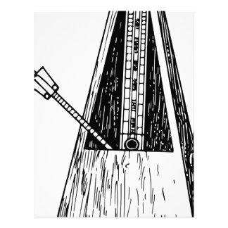 Metronometeckning. Timekeeper Brevhuvud