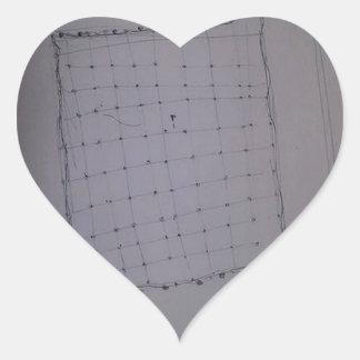 Mettalloid tyg för att flå den Fukushima roboten Hjärtformat Klistermärke