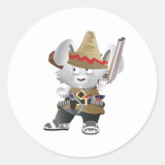 Mexicansk banditkanin runt klistermärke