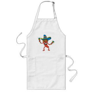 Mexicansk Chilipeppar Långt Förkläde