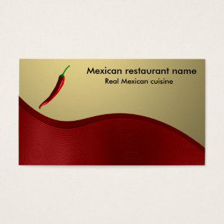 Mexicansk cuisine visitkort