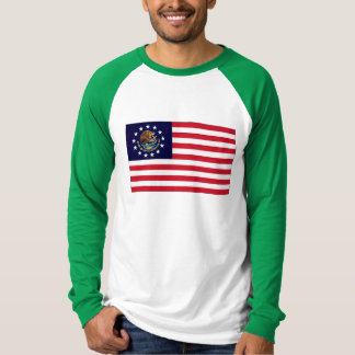 Mexicansk flagga 1776 för amerikan tee shirt