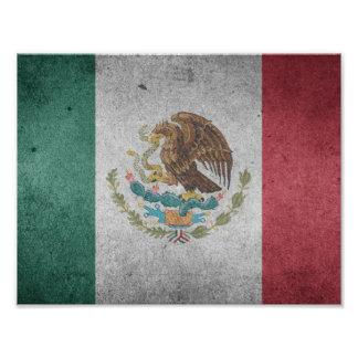 Mexicansk flagga för klassiker fototryck