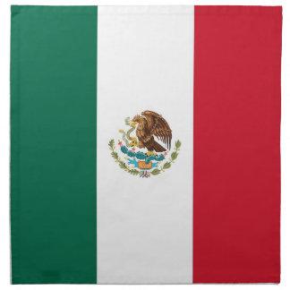 Mexicansk flagga på den MoJo servetten Servett Med Tryck