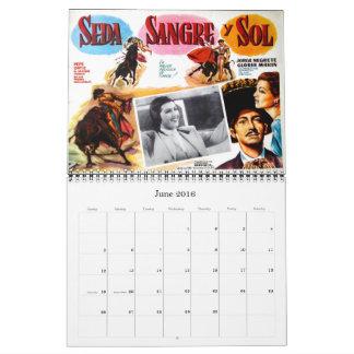 Mexicansk kalender för filmaffischvägg