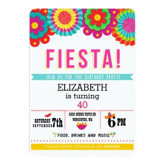 Mexicansk partyinbjudan för Fiesta 12,7 X 17,8 Cm Inbjudningskort