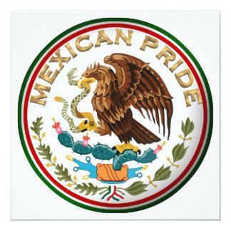 Mexicansk pride (örnen från mexicansk flagga) fyrkantigt 13,3 cm inbjudningskort