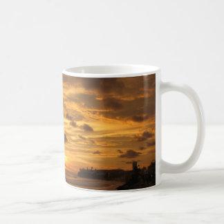 Mexicansk strandsolnedgång kaffemugg