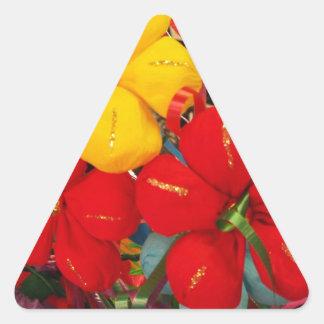 Mexicanska kräppblommor triangelformat klistermärke
