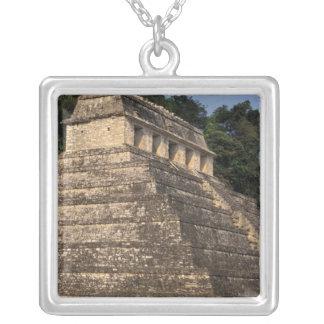 Mexico Chiapas landskap, Palenque. Tempel av 2 Silverpläterat Halsband