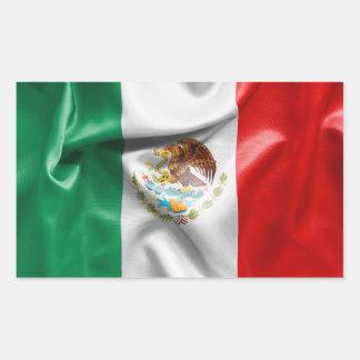 Mexico flagga rektangulärt klistermärke