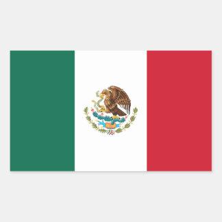 Mexico flaggaklistermärke rektangulärt klistermärke