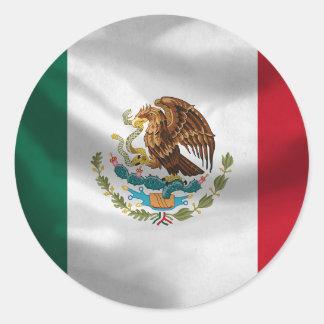 Mexico flaggaklistermärke runt klistermärke