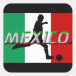 Mexico fotbollklistermärkear fyrkantigt klistermärke