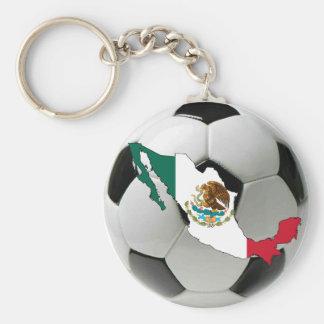 Mexico futbol rund nyckelring