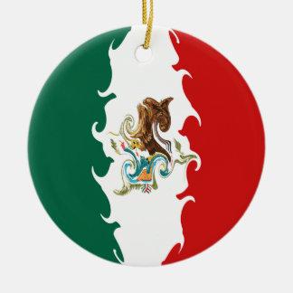 Mexico Gnarly flagga Rund Julgransprydnad I Keramik