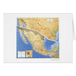 Mexico hänvisar till kartan - 1993 hälsningskort