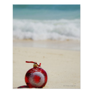 Mexico Playa del Carmen, juldekoration Poster