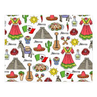 Mexico | symbolmönster vykort