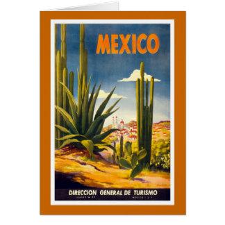 """""""Mexico"""" vintage resoraffisch Hälsningskort"""