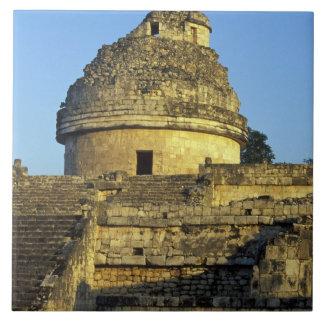 Mexico Yucatan. Caracol: astronomical Kakelplatta