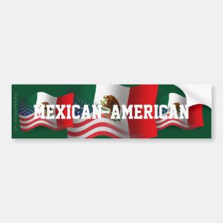 Mexikan-Amerikan som vinkar flagga Bildekal