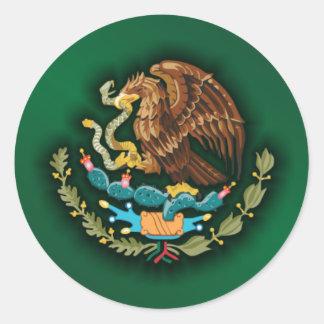 Mexikanen stålsätter 2 (grönt) runt klistermärke