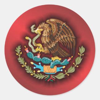 Mexikanen stålsätter 2 (rött) runt klistermärke
