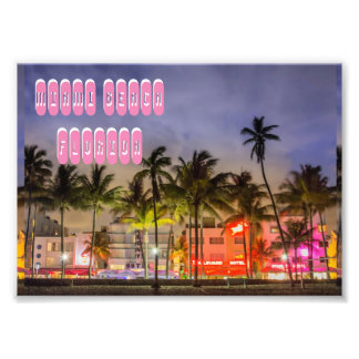MIAMI BEACH Florida Fototryck