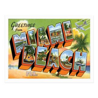 Miami Beach Florida reser US-staden Vykort