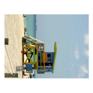 Miami Beach livräddarehydda Vykort