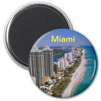 Miami Beach magnet Magnet Rund 5.7 Cm