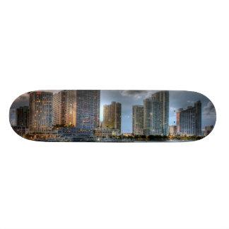 Miami Florida Old School Skateboard Bräda 18 Cm