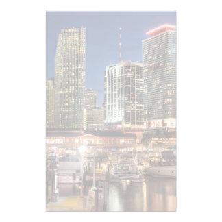 Miami horisontstad i Florida Brevpapper