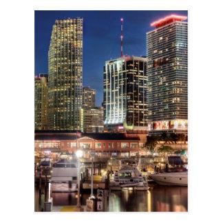 Miami horisontstad i Florida Vykort