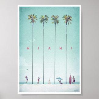 Miami vintage resoraffisch poster