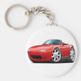 Miata röd bil 1990-98 rund nyckelring