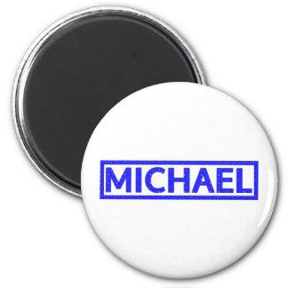 Michael frimärke magnet rund 5.7 cm