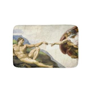 MICHELANGELO - skapelsen av Adam 1512 Badrumsmatta